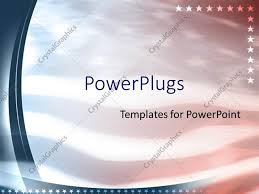 Powerpoint Template American Flag Patriotic United States 18038
