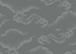 Ethan Allen Wallpaper Designs Cloudburst Dark Gray Whimsical Wallpaper Wallpaper Ethan