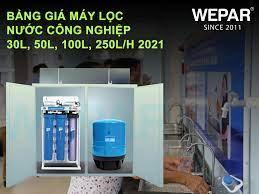 Bảng giá máy lọc nước công nghiệp 30l, 50l, 100l, 250l/h 2021