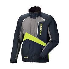 Mens Polaris Gore Tex Pro Black Grey And Lime Snowmobile Jacket