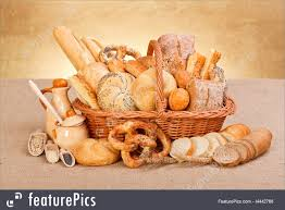 Baked Goods Fresh Bakery Products And Ingredients Stock Photo