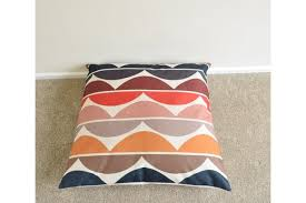 scandinavian retro furniture. multi coloured scandinavian retro cotton linen floor cushionpillow cover 26 x furniture