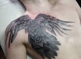 татуировка орел и ворон тату