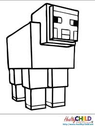 Small Picture sheep Minecraft Coloring Pages