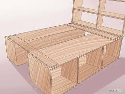 build a wooden bed frame frames bedrooms and room with regard to how make storage architecture