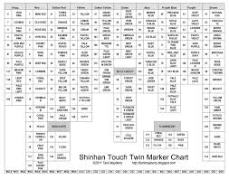 Touch Markers Blank Color Chart Best Picture Of Chart