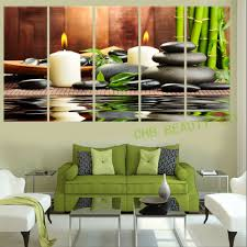 Wall Paintings For Living Room 5 Panel Desert Landscape Painting Wall Art Canvas Prints Wall