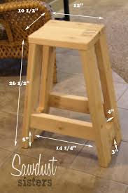 build a barstool using only 2x4s tutorial at sawdustsisters com