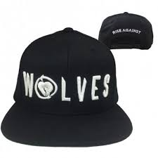 rise-against - Wolves Snapback Hat (Black) | Rise against merch