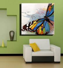 Hand-painted wall paintings home decorative butterfly modern abstract oil  painting on canvas home decor