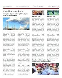 Newspaper Article Word Template Free Newspaper Templates Print And Digital Online Template