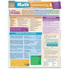 Math Fundamentals 4 - (Quickstudy: Academic) By Peggy Warren (Poster) :  Target