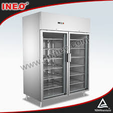 Stand Up Display Freezer Commercial Stainless Steel Upright Display FreezerFrozen Food 57