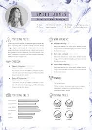 Marble Simple Resume Template Cv Template By Showy68template
