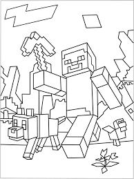 Minecraft Monsters Colouring Pages Coloringpages Minecraft