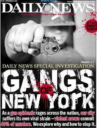gangland new york ny daily news front page of the new york daily news for 14 2015 on gang investigation