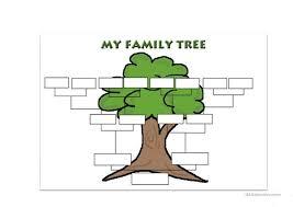 Family Tree Tree Template Family Tree Template English Esl Worksheets