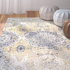 gray and white area rug bungalow rose kelvin gold navy blue reviews