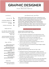 Modern Resume For Product Specialist Graphic Design Resume Sample Writing Guide Rg