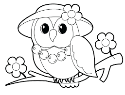 Owl Coloring Pages For Kindergarten Toddlers Colouring Cute