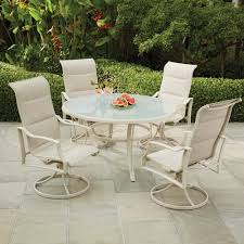 Statesville shell 5 piece aluminum outdoor dining set