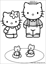 Coloring is a fun way for kids to be creative and learn how to draw and use the colors. Hello Kitty Coloring Picture