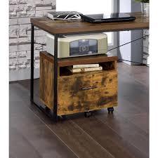 Weathered Oak Furniture Acme Furniture Bob Weathered Oak File Cabinet 92398 The Home Depot