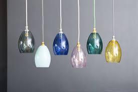 bertie small coloured glass pendant light