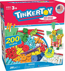 amazon tinkertoy 30 model super building set 200 pieces for ages 3 pre educational toy amazon exclusive toys games