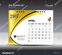 April Desk Calendar 2017 Design Template Stock Vector 500550913 ...