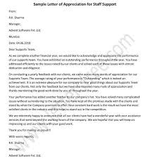 Letter Of Appreciation Classy 48 Appreciation Letter To Staff Proposal Template