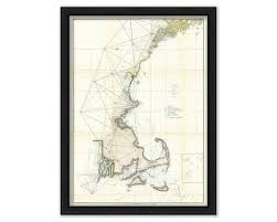 Nautical Charts New England Coast New England Coast 1855 Nautical Chart
