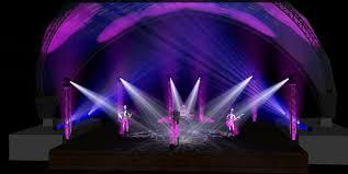 midtown crossing end of summer concert series renders lighting design