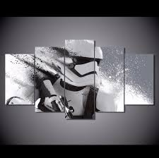 on star wars 5 panel canvas wall art with 5 panel star wars stormtrooper canvas wall art octotreasure