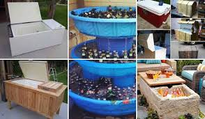 simple outdoor patio ideas. 19 Clever DIY Outdoor Cooler Ideas Let You Keep Cool In The Summer Simple Outdoor Patio Ideas