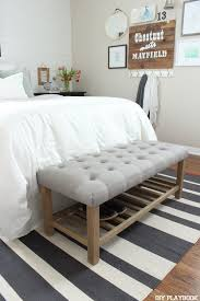 bottom of bed bench. Wonderful Bottom Add A Tufted Bench At The Bottom Of Your Bed To Give Bedroom More  Complete Look Bonus Pointsitu0027s Great Place Sit And Put Shoes On Each  For Bottom Of Bed Bench I