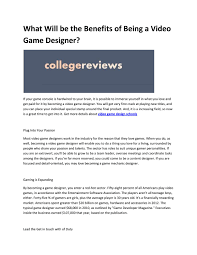 Game Designer Benefits Video Game Colleges By Robarto Firmino Issuu