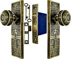 antique style mortise lock door set lockset