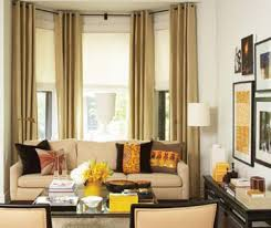 Bay window treatment traditional-living-room
