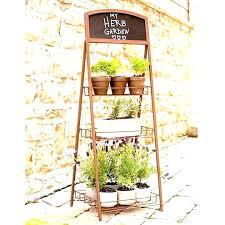 herb garden stand post outdoor stands indoor planter zest 4 leisur