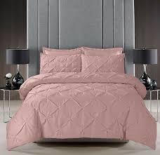 pink pintuck duvet set quilt cover