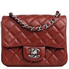 Chanel Mini Classic Flap Quilted Lambskin Bag in Dark Red #chanel ... & Bag · Chanel Mini Classic Flap Quilted ... Adamdwight.com