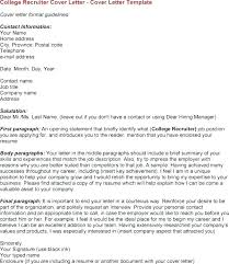 Sample Cover Letter For Recruiter Position Sample Cover Letters To