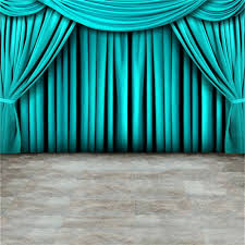 Light Blue Backdrop Curtain Us 3 74 22 Off Laeacco Light Blue Curtain Gray Floor Stage Photographic Backdrops Customized Photography Backgrounds For Photo Studio In Background