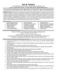 Insurance Appraiser Resume Example