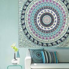 indian mandala tapestry wall hanging blanket beach towel bedding bedspread home us 19 60