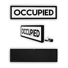 occupied bathroom sign. Occupied Sign, Occupied, Bathroom Vacant Light Up No Vacancy Do Not Disturb, Illuminated Art, Ambient Sign O