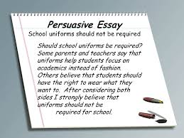 accokeek academy write a book participants ppt persuasive essay school uniforms should not be required