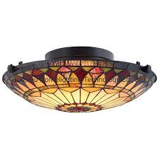 Glass Flush Mount Ceiling Light Hot Item Tfc A79 Home 2 Light Tiffany Glass Flush Mount Ceiling Light