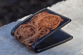 personalized western leather wallets for men